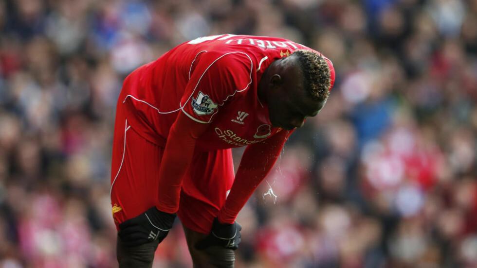UNNSKYLDER SEG: Liverpools hardt pressede spiss, Mario Balotelli, la i går ut et instagram-bilde med tekst som mange fant støtende. Nå har italieneren beklaget seg offentlig, både via sin twitter-konto og via sin offisielle Facebook-side. Foto: Reuters/Phil Noble.