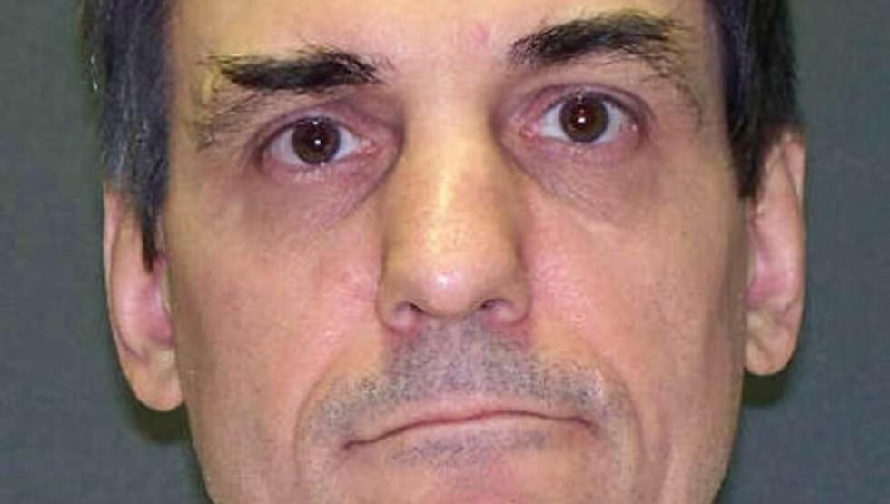 <strong>SKAL DØ:</strong> 3. desember blir Scott Panettis siste dag, hvis myndighetene får det som de vil. Den nå 56 år gamle drapsmannen er psykisk syk, og er diagnostisert med paranoid schizofreni, og representerte seg selv under rettssaken. Foto: AP Photo/Texas Department of Criminal Justice/NTB Scanpix