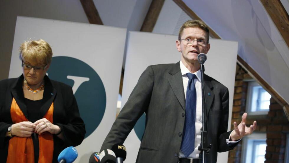 KLAR FOR DEBATT: Venstre er klar for debatt om et skatteystem som sikrer et konkurransedyktig næringsliv, sier finanspolitisk talsmann Terje Breivik. Til venstre partileder Trine Skei Grande. Foto: Jacques Hvistendahl / Dagbladet
