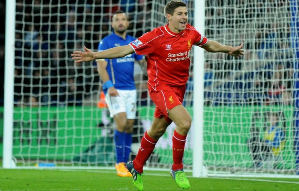 MATCHVINNER:  Steven Gerrard sikret tre poeng for Liverpool. Foto: NTB Scanpix