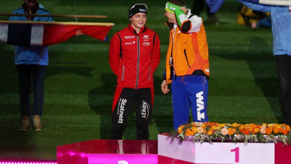 b<>TRENER SAMMEN: Håvard Bøkko nærmer seg comeback på isen etter kneproblemene. Nå er skøyteprofilen på treningsleir med rivalen Sven Kramer. Foto: Håkon Mosvold Larsen / NTB scanpix