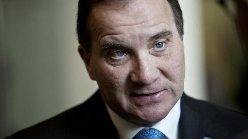 KRISE: Stefan Löfven har ikke tilstrekkelig støtte for å få gjennom sitt budsjett i den svenske Riksdagen. Foto: AP / Bebeto Matthews / NTB scanpix
