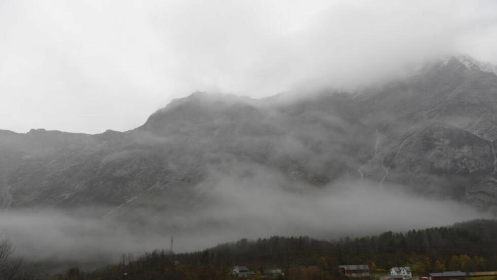 MANNEN  De evakuerte ved det rasutsatte fjellet Mannen i Rauma kommune i Romsdal får flytte hjem igjen. Foto: John T. Pedersen / Dagbladet