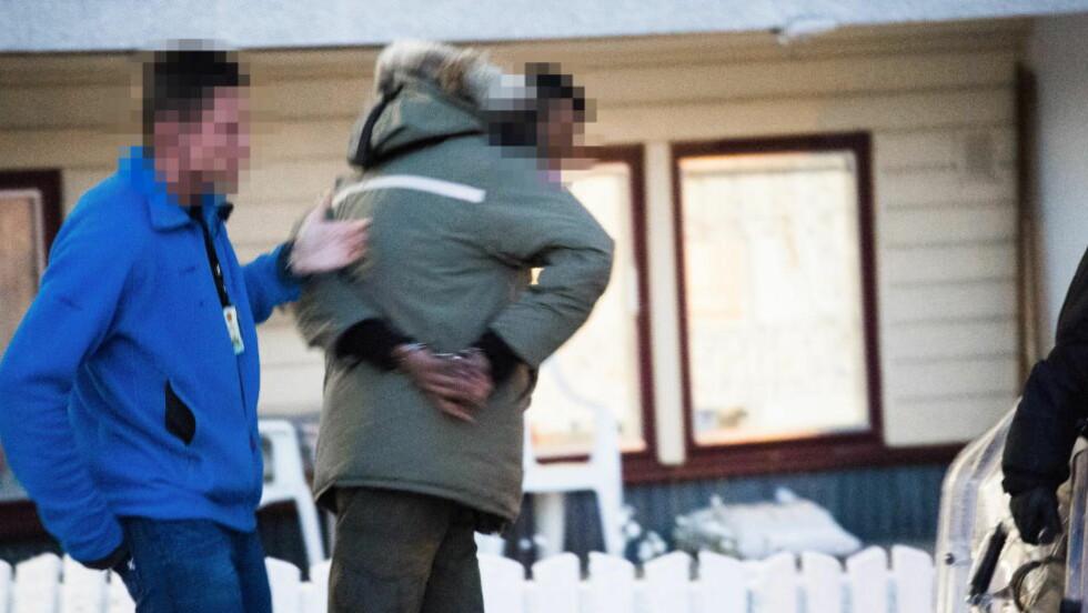 PÅGREPET: Denne mannen bosatt på Vestli er en av flere som ble pågrepet i Oslo i dag morges. Foto: Endre Vellene