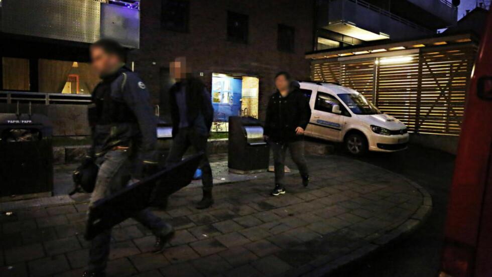 PÅGREPET: Politiet slo blant annet til mot en adresse på Tøyen i dag morges.  Foto: Frank Karlsen / Dagbladet