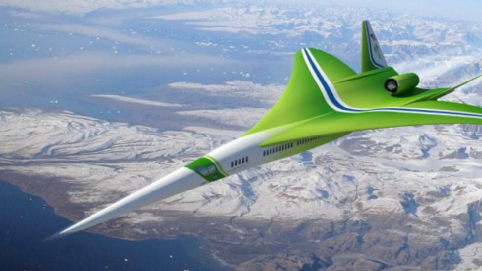FØRSTE OVERLYDS-PASSASJERFLY SIDEN CONCORDE? Det er 11 år siden Concorde ble satt på bakken. Nå er det flere som kappes om å få det første neste overlydsflyet i trafikk. Lockheed Martin er imidlertid den eneste som jobber med et passasjerfly - de andre ser mot privatjet-markedet. Foto: LOCKHEED MARTIN