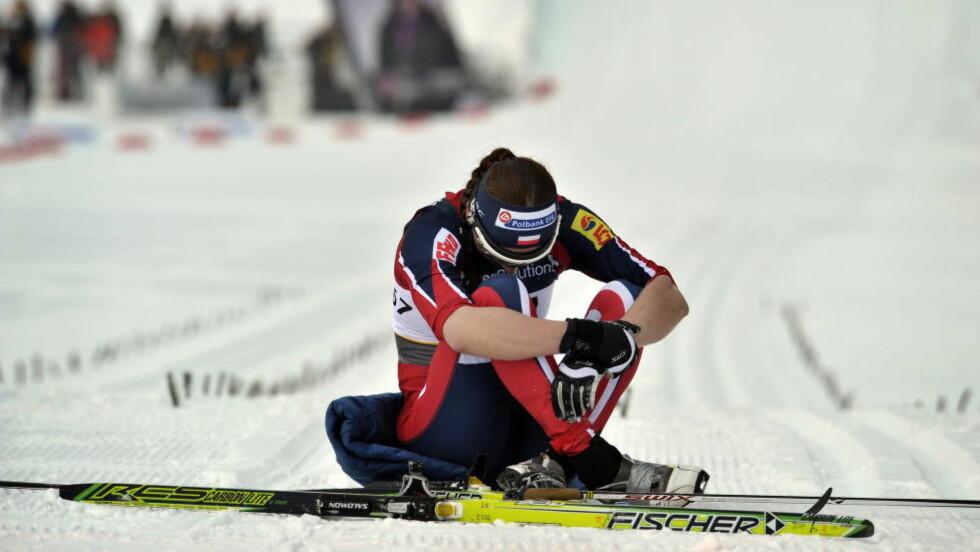 SLÅTT UT. Justyna Kowalczyk greide ikke å ta seg videre fra prologen under sprintrennet på Lillehammer.  Arkivfoto: Hans A Vedlog