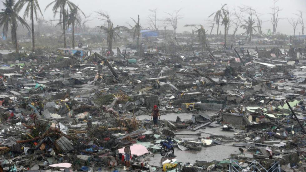 FORRIGE TYFON-KATASTROFE:  Filippinene ble i november i fjor rammet av tyfonen Haiyan. 7350 personer mistet livet eller er fortsatt savnet. Foto: REUTERS/Erik De Castro
