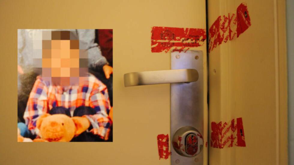 10-ÅRING DØDE:  En ti år gammel gutt ble funnet død i Oslo 27. august i år. Utgangsdøren der gutten (innfelt) bodde var i en tid plombert. Den endelige obduksjonsrapporten er nå klar, og viser at gutten trolig døde av uttørring og avmagring. Foto: Privat / Marius Husebø-Evensen, Dagbladet.