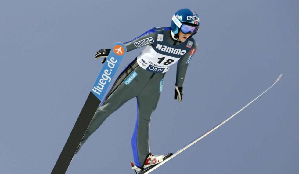 NUMMER FEM: Line Jahr ble beste norske hopper på Lillehammer fredag.  Foto: Terje Bendiksby / NTB scanpix