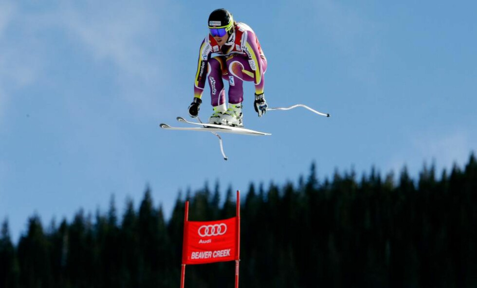 OVERLEGEN: Kjetil Jansrud lekte med konkurrentene i Beaver Creek, Colorado. Foto:    Ezra Shaw/Getty Images/AFP