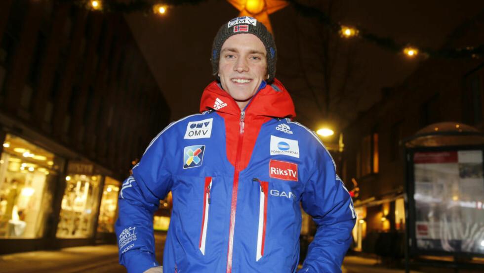 LENGST: Skihopper Anders Fannemel var best i kvalifiseringen. Foto: Terje Pedersen / NTB scanpix