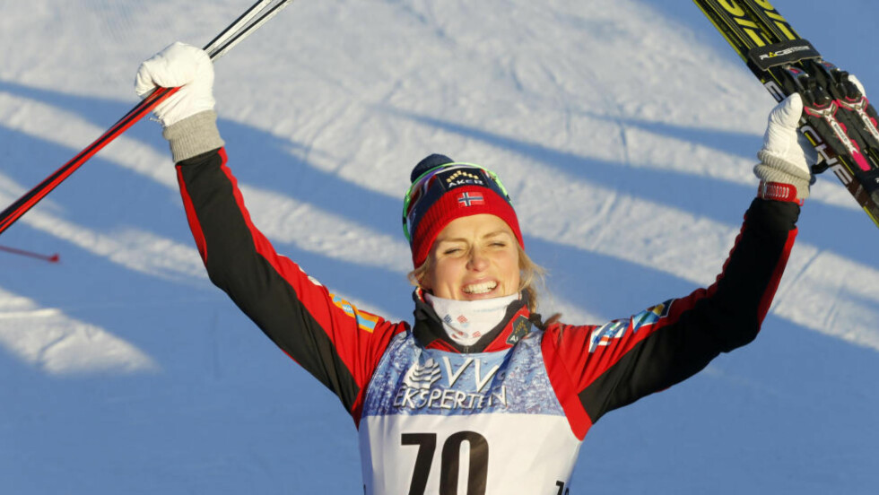 VINNER: Therese Johaug vant damenes 5 km på Lillehammer, tre tideler foran Marit Bjørgen.  Foto: Terje Pedersen / NTB scanpix