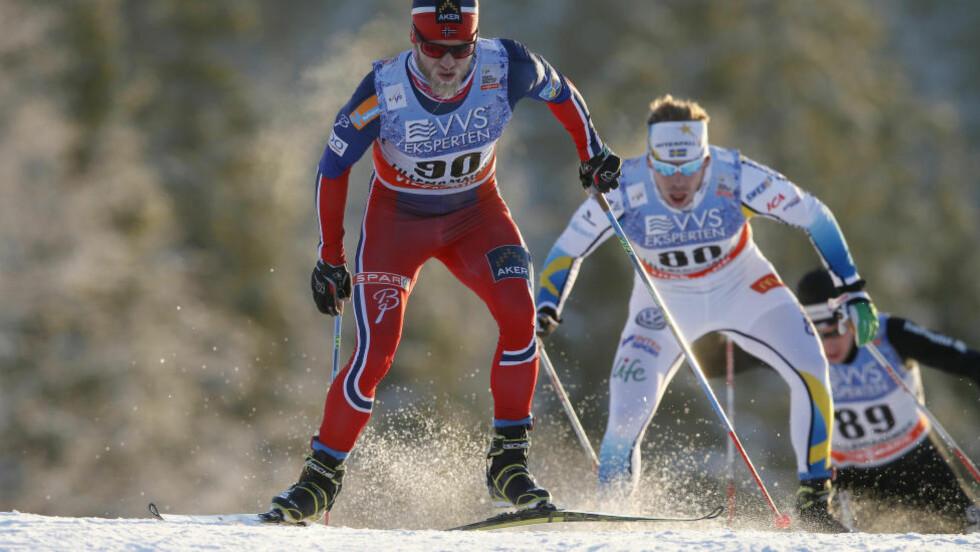 VANT: Martin Johnsrud Sundby var sterkest på 10-kilometeren på Lillehammer.  Foto: Cornelius Poppe / NTB scanpix