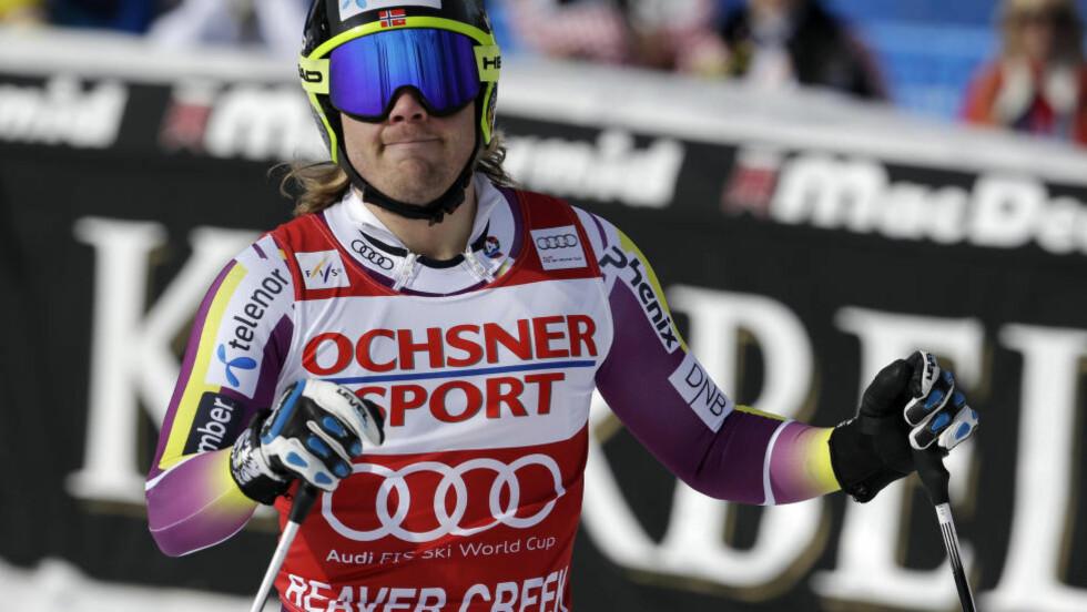 VERDENS BESTE:  Morten Pedersen mener Kjetil Jansrud er verdens beste for øyeblikket. Foto:AP Photo/John Locher/NTB Scanpix.