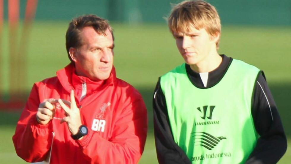 PÅ BESØK: Denne uka trente Martin Ødegaard med Liverpool, og nå melder Daily Mail at 15-åringen skal trene med Arsenal. Foto: FameFlynet / Bulls Press