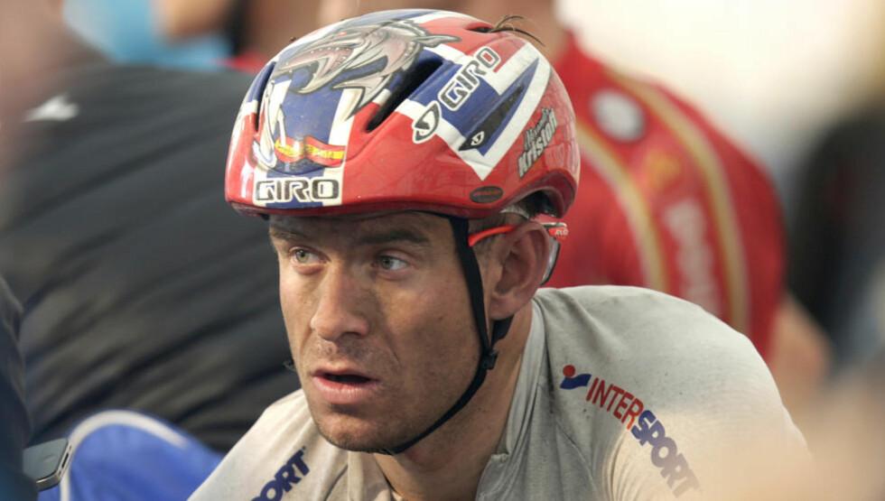 Ponferrada, Spania 20140928. Sykkel-VM: Alexander Kristoff ble nummer åtte, og var lynende forbannet over at han havnet så langt bak Michal Kwiatkowski under landeveisritt for Senior/Elite. Foto: Vidar Ruud / NTB scanpix