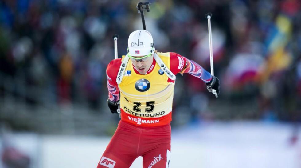 MYE Å GÅ PÅ: Emil Hegle Svendsen leder verdenscupen, men har et godt stykke igjen til sitt beste. Foto: MARCUS ERICSSON / TT / NTB Scanpix
