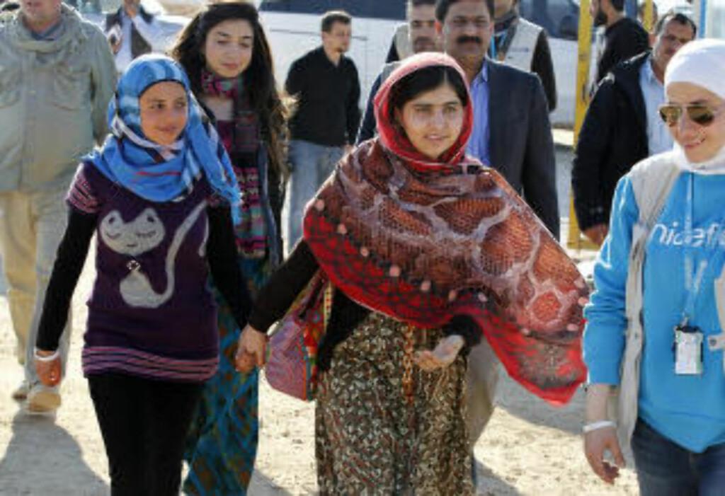 FOR UTDANNING:  Syriske Mezon Almellehan. Foto: Muhammad Hamed / Reuters / NTB Scapix