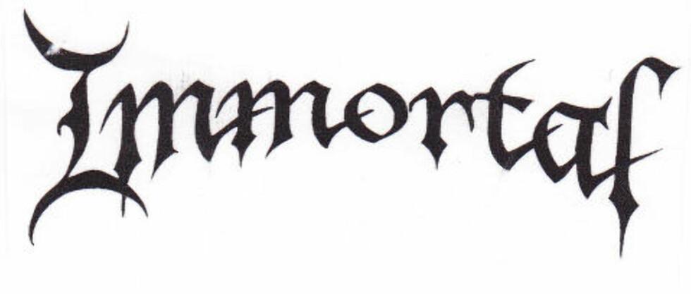 STRIDENS KJERNE: Immortal-logoen slik den framstår i Abbaths søknad til patentstyret.