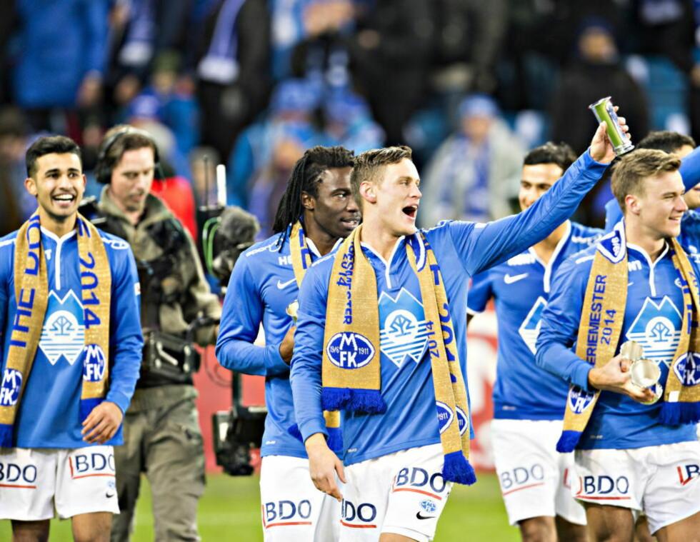FEIRET CUP-GULL:  I november kunne Molde juble for cupgull etter å ha slått Odd 2-0 på Ullevål. Men Molde kommer på niende plass på lista over lag i Tippeligaen med flest spillere utviklet i egen klubb i 2014. Foto: HANS ARNE VEDLOG