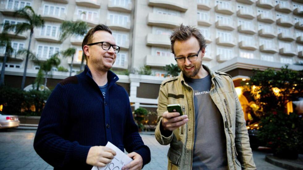 MÅTTE ENDRE PÅ HISTORIEBØKENE: Espen Sandberg og Joachim Rønning regisserte de første episodene av Netflix' nye storsatsing. Foto: Tore Meek / NTB scanpix