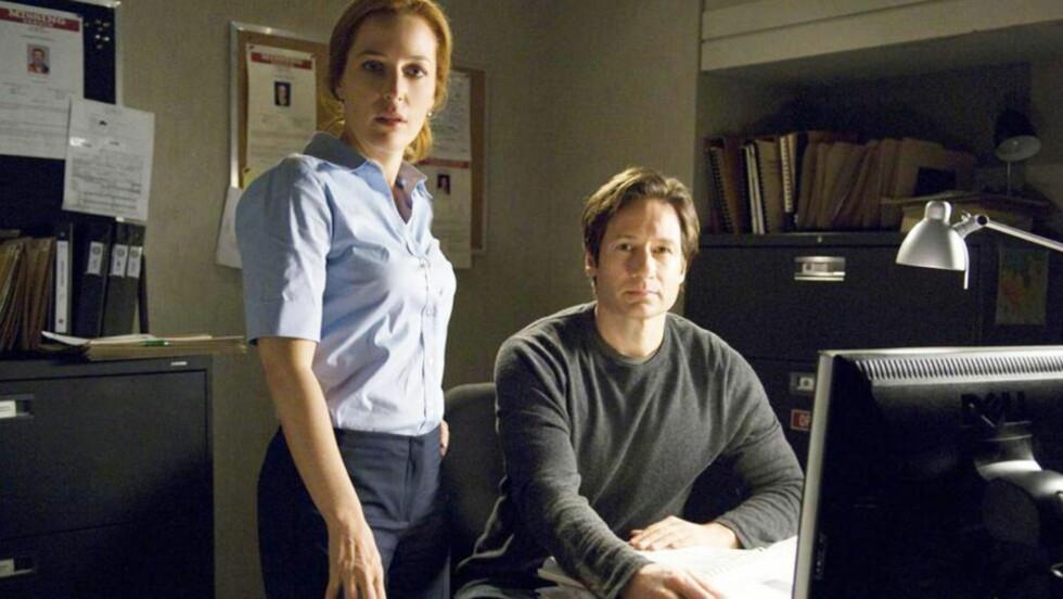 TIDLIG NETTSUKSESS: «X-Files» var en av de første seriene som dro nytte av umiddelbare tilbakemeldinger fra datakyndige fans. Her et bilde fra filmen «X-Files: I Want to Believe» fra 2008. FOTO: PROMO