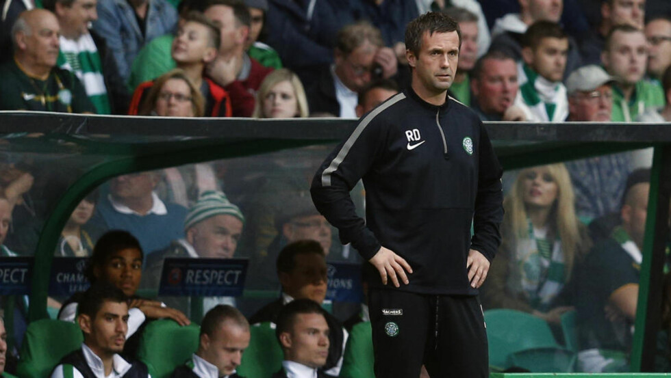TIL EUROPA: Celtic-manager Ronny Deila mislyktes i å lede skottene til Champions League, men får likevel Europa-spill i form av Europa League denne sesongen. Foto: REUTERS/Russell Cheyne/NTB Scanpix