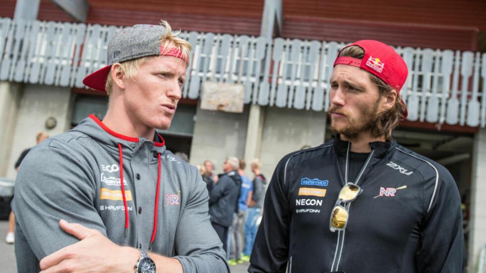 MISSET FINALEN: Kjetil Borch (t.v.) og Nils Jakob Skulstad Hoff klarte ikke å forsvare fjorårets prestasjon.  Foto: Audun Braastad / NTB scanpix