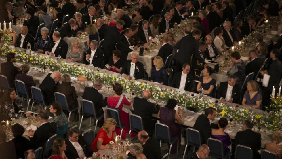 STRAMT OPPLEGG: Ikke ett minutt går uplanlagt for seg, under Nobelprisutdelingen i Stockholm Konserthall i kveld. Sjekk minutt for minutt i denne saken. Foto: David Sica / Stella Pictures