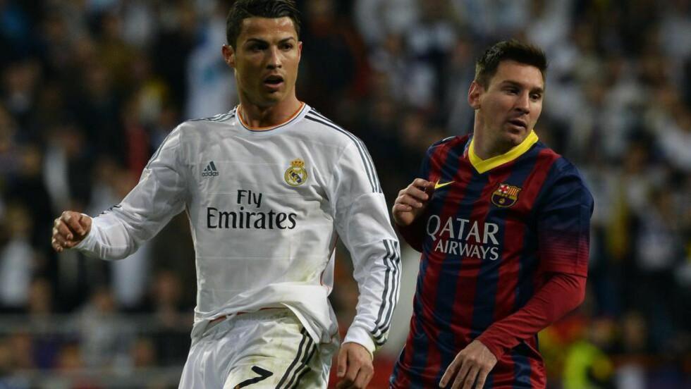 FORTJENTE IKKE PRISEN:  Cristiano Ronaldo går langt i å mene at Lionel Messi ikke fortjente prisen for VMs beste spiller. Foto: AFP PHOTO/ GERARD JULIEN