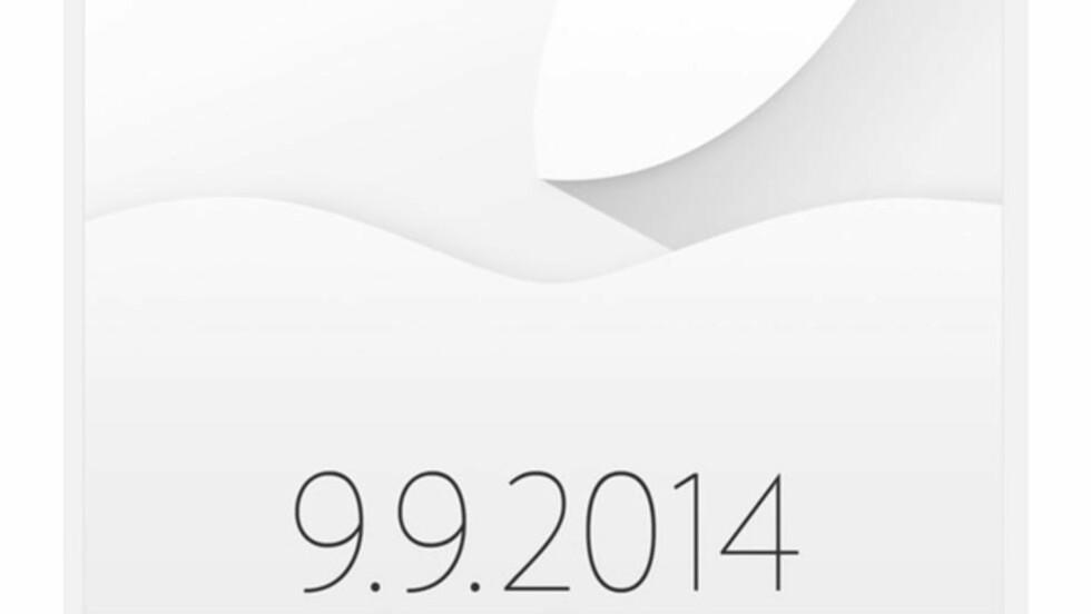 KRYPTISK: Apple melder at noe skal skje 9. september i år. Det har ekspertene forventet lenge, men det virker som en bekreftelsen har fått fart på aksjene.