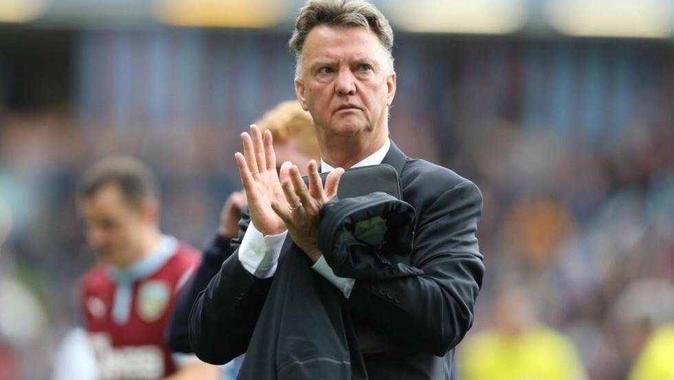 POSITIV: Louis van Gaal mener det var framgang å spore hos Manchester United etter 0-0 mot Burnley. Foto: AFP PHOTO / IAN MACNICOL / NTB Scanpix