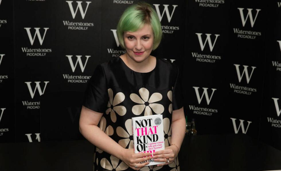 OMDISKUTERT: Det har stormet rundt Lena Dunhams bok «Ikke en sånn jente» etter at den kom på markedet i høst. Foto: Stella Pictures