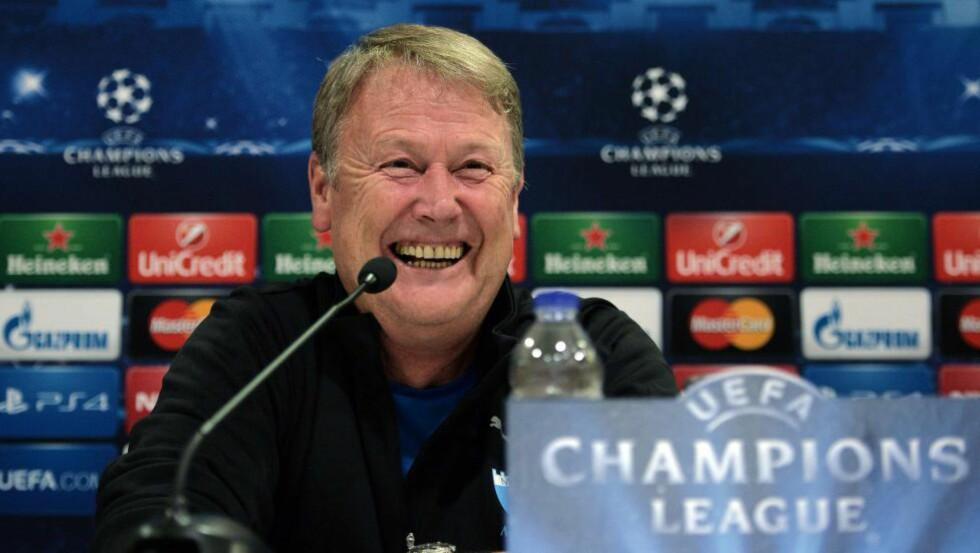 SUKSESS: Åge Hareides Malmö vant bare en av seks kamper i Champions League, men får inn store inntekter på europacupdeltakelsen. Foto: AFP PHOTO / LOUISA GOULIAMAKI / NTB Scanpix