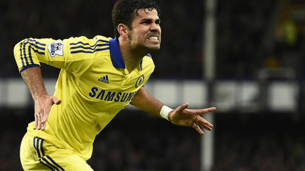 MÅLFARLIG: Diego Costa har levert fire fulltreffere på sine tre første seriekamper for Chelsea. Foto: Dylan Martinez / Reuters / NTB Scanpix