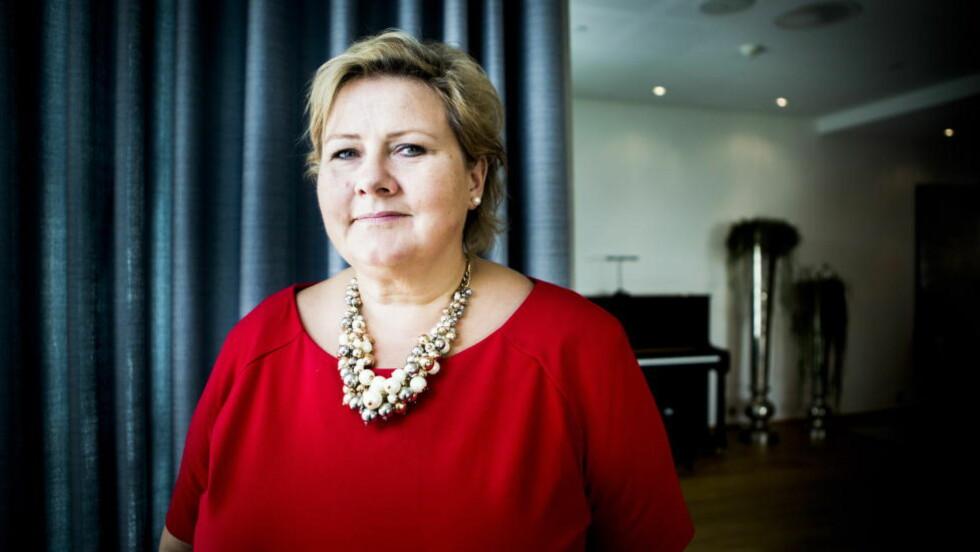GRIPER IKKE INN: Statsminister Erna Solberg i statsministerboligen i Oslo. Foto: Christian Roth Christensen / Dagbladet