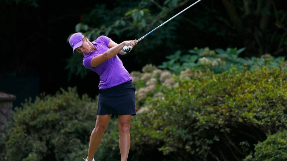INGEN TRIUMF: Suzann Pettersen under sisterunden i LPGA Portland Classic i natt norsk tid. Foto: Jonathan Ferrey/Getty Images/AFP
