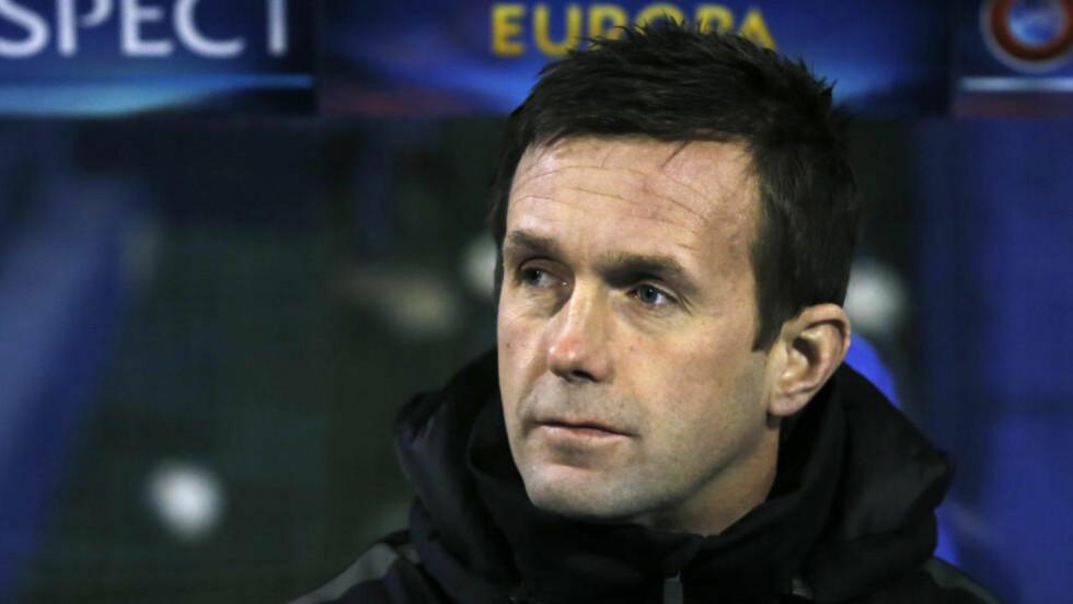 BETENKT: Ronny Deila måtte konstatere at noen fæle minutter før og etter pause ødela alt. Celtic er uansett videre. Foto: NTB Scanpix