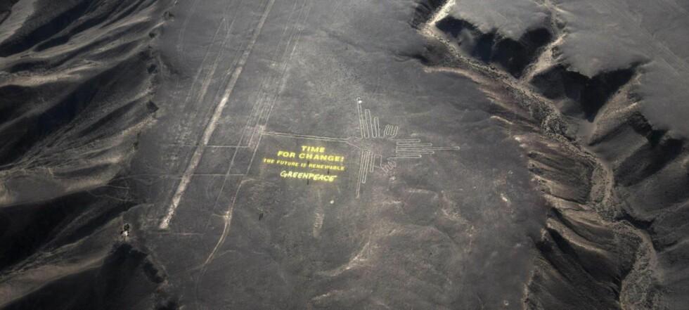 Ut mot Greenpeace: Har skadet område med uerstattelige tegninger
