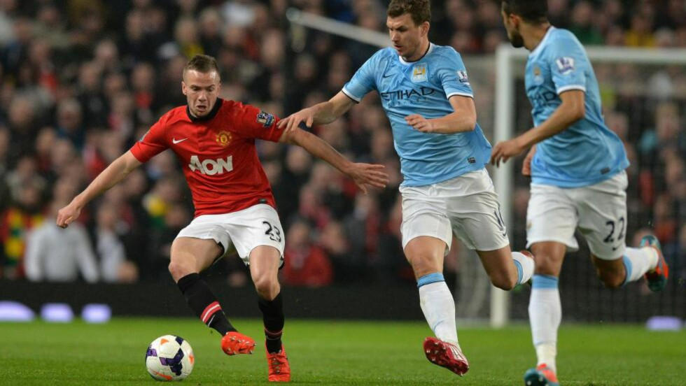 LEIES UT: Overgangssagaen rundt Manchester Uniteds Tom Cleverley endte med at Aston Villa låner ham for resten av sesongen. Foto: AFP PHOTO / PAUL ELLIS / NTB Scanpix