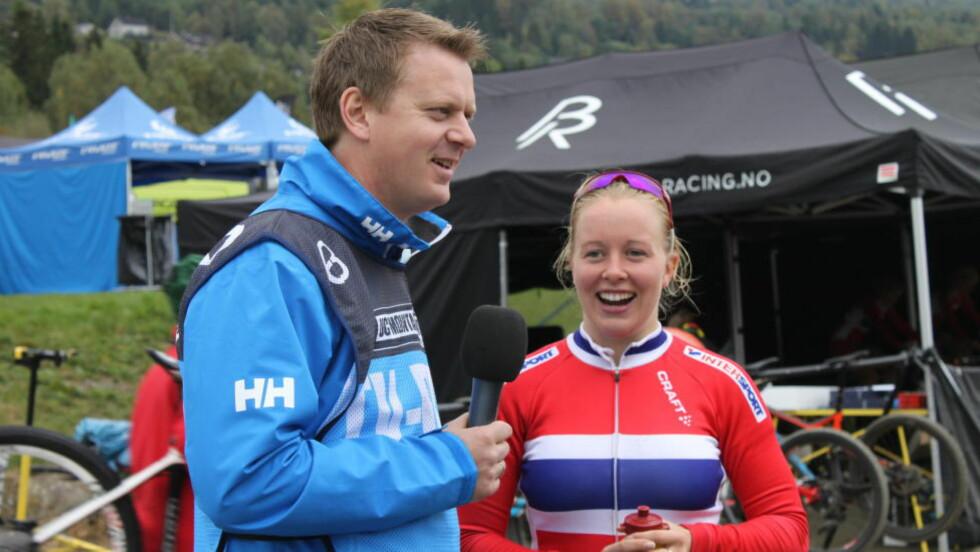 KJEMPET OM MEDALJENE: Ingrid Sofie Bøe Jacobsen imponerte på VM-sprinten på Lillehammer tirsdag. I finalen ble det bronsemedalje etter en perfekt start for 22-åringen. Foto: Per Erik R. Mæhlum, NCF