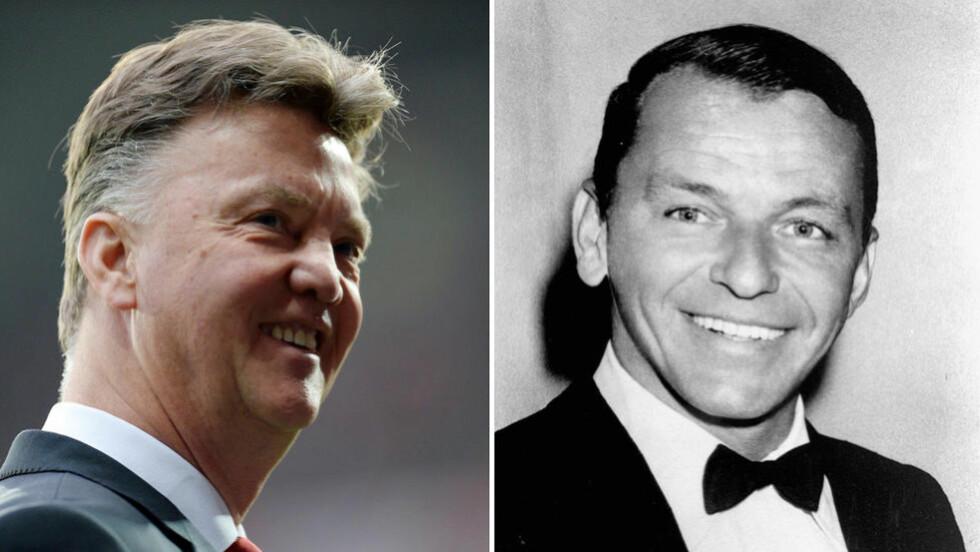MY WAY: Louis van Gaal skal ha underholdt med to Frank Sinatra-slagere på Uniteds julebord. Foto: NTB Scanpix