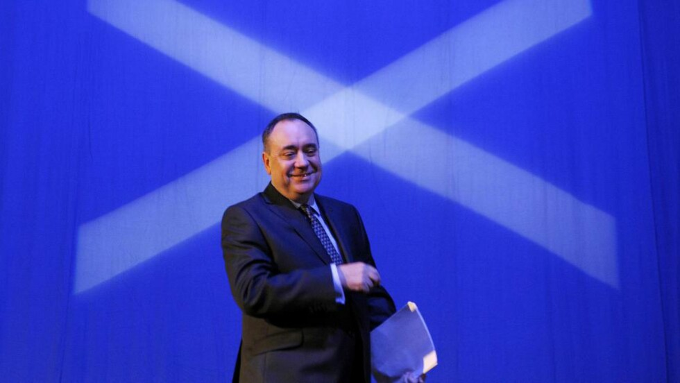 FØRSTEMINISTER: Alex Salmond. Foto: AFP / ANDY BUCHANAN / NTB scanpix