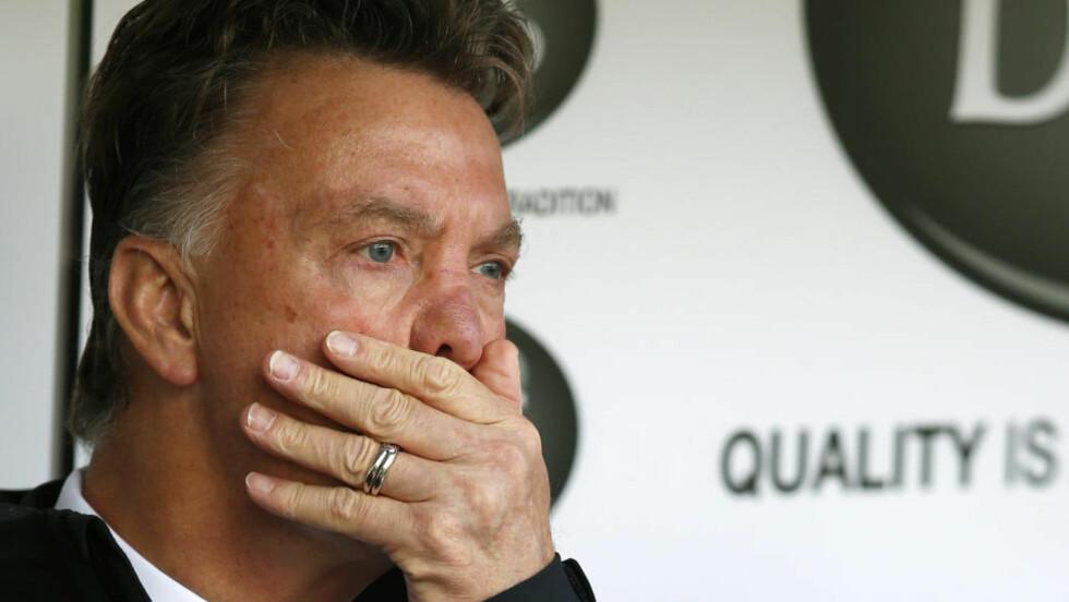 VIL HA DET VRIENT. Louis van Gaal sier han heller ønsket et vanskelig liv med Manchester United framfor den enkle varianten med Tottenham. Foto: REUTERS.