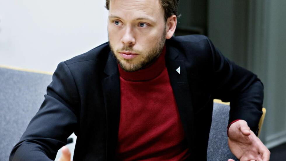 FÅR NEI: SV-leder Audun Lysbakken s forsøk på å få Venstre til å stanse regjeringens NAV-forslag faller på steingrunn. Foto: Nina Hansen / Dagbladet
