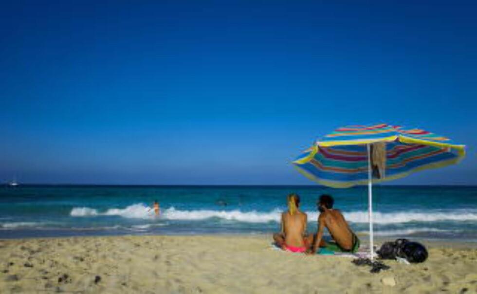 FORMENTERA:  Playa Llevant ligger utenfor saltbassenget Ses Salines.  Foto: JOHN TERJE PEDERSEN