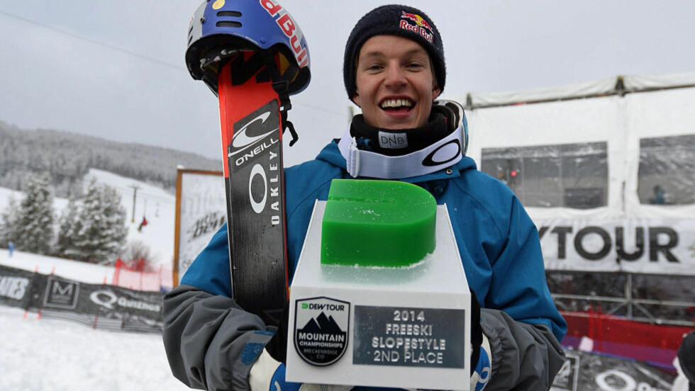 2.plass: Øystein Bråten tok andreplassen i verdenstouren i Breckenridge i dag. Foto: Norges Skiforbund