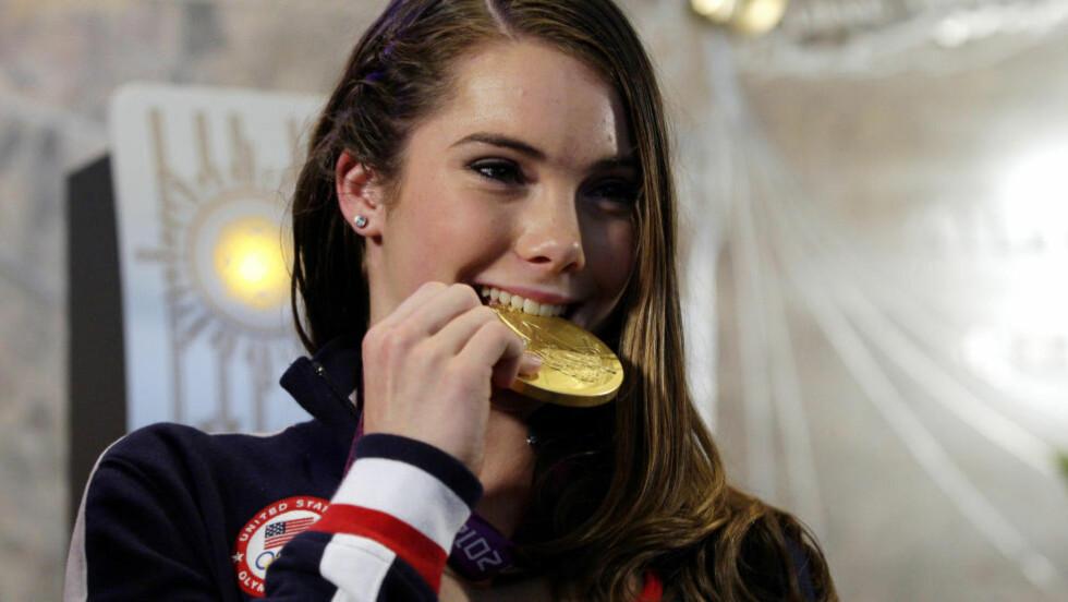 TOK TO OL-MEDALJER:  McKayla Maroney var 16 år da hun tok både gull og sølv under London-OL. FOTO: NTB Scanpix