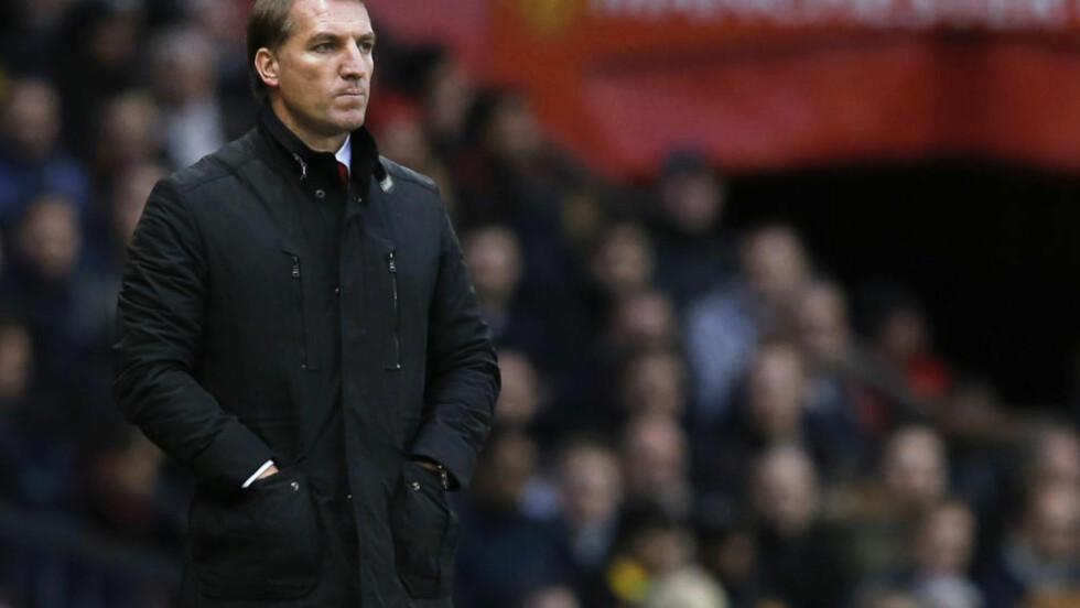 TÅLER IKKE NEGATIV MÅLFORSKJELL? Brendan Rodgers må snu Liverpool-skuta, ellers mister han jobben. Foto: REUTERS / Phil Noble / NTB SCANPIX